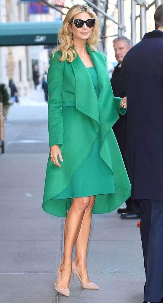 Ivanka Trump Green Dress Outfits