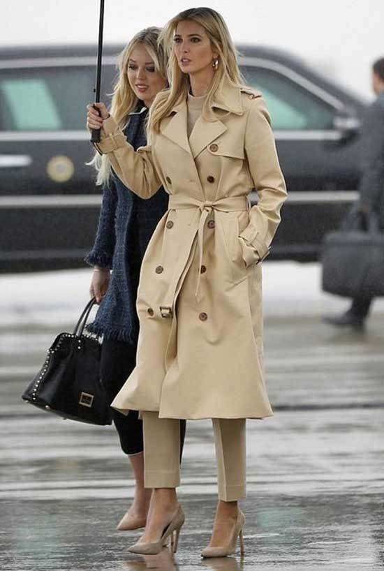 Ivanka Trump Trench Coat Outfits