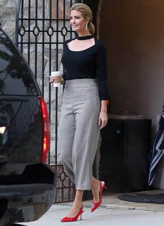 Ivanka Trump Wide Legged Pants Outfits