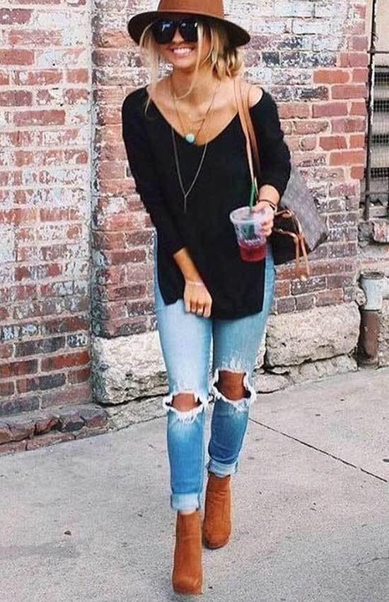 Casual Spring Brown Boots Outfits 2019