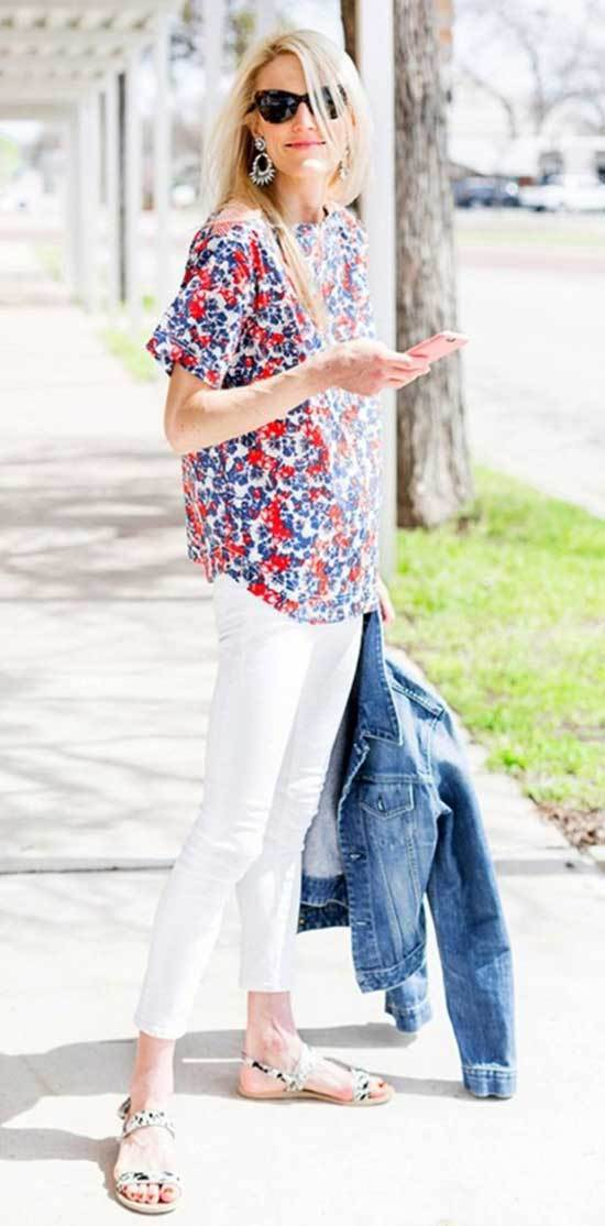 Denim Outfits for 40 Year Old Woman