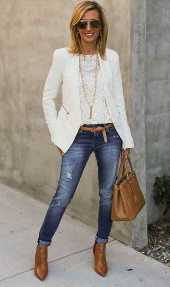 Jean Outfits for 40 Year Old Woman
