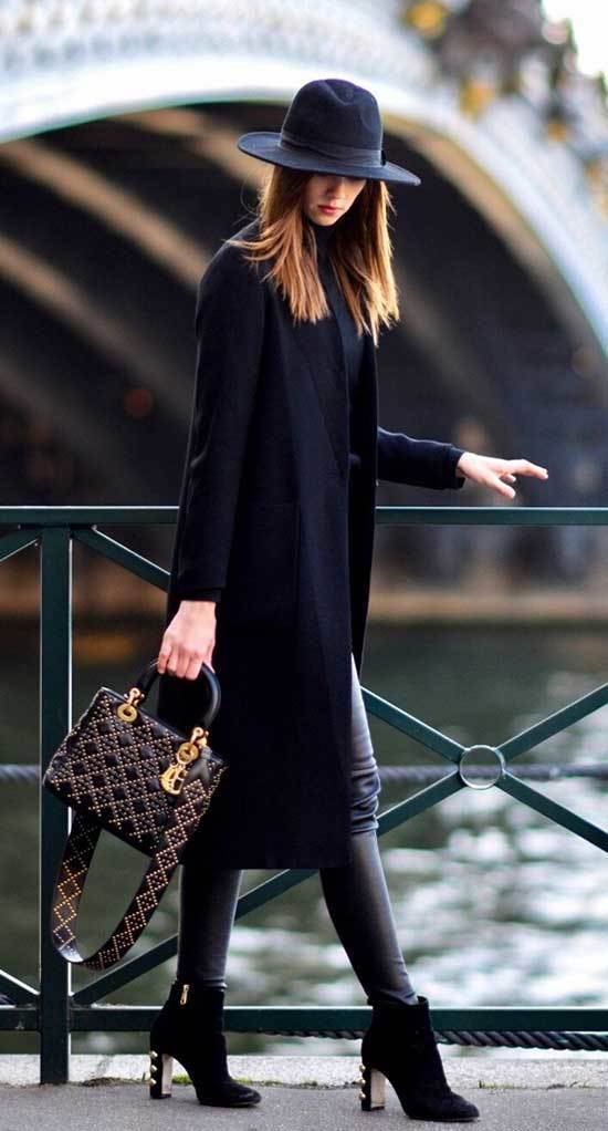 Fall Casual Work Black Outfits