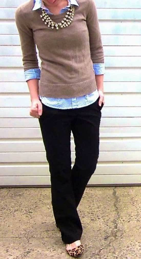 Fall Casual Work Outfits for Teachers