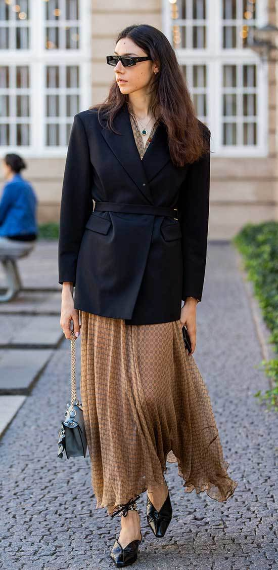 Fall Casual Work Outfits with Blazer Jacket