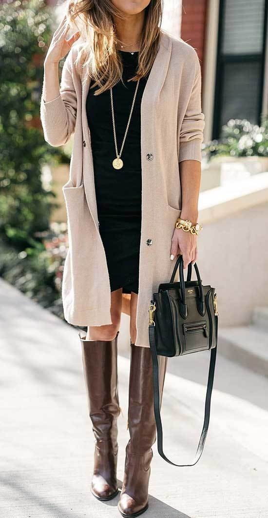 Fall Casual Work Cardigan Outfits