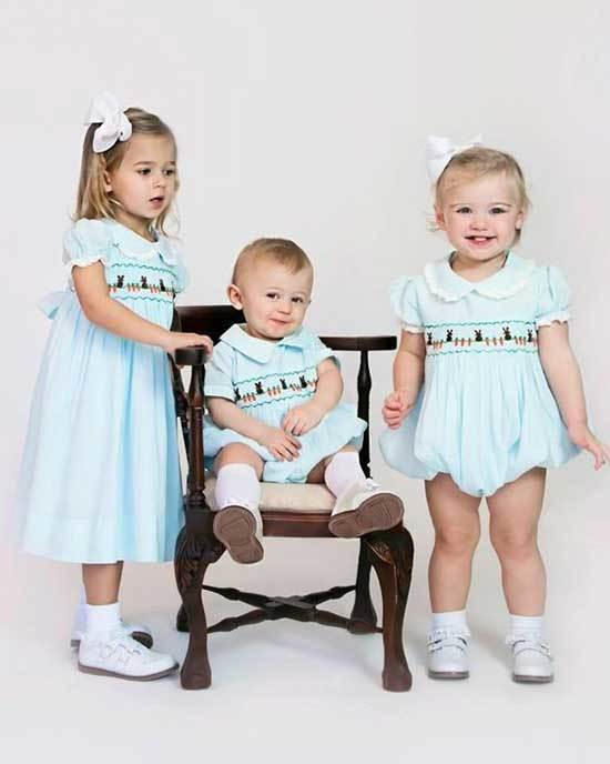 Kids Easter Blue Outfits