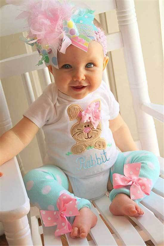 Pink Kids Easter Outfits