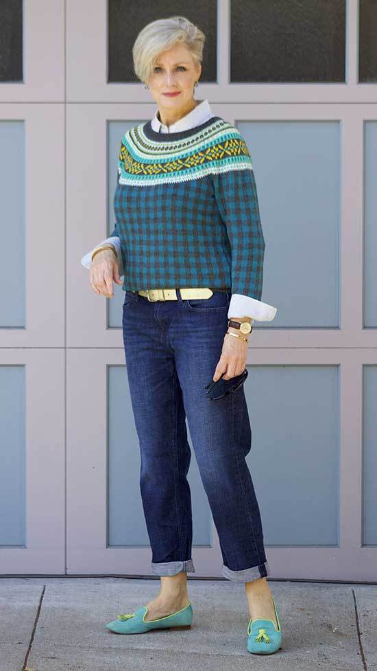 Fall Sweater Outfits for Women Over 50