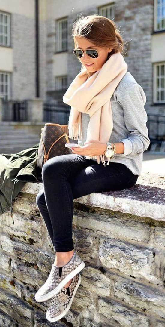 Fall Outfit Ideas with Sneakers