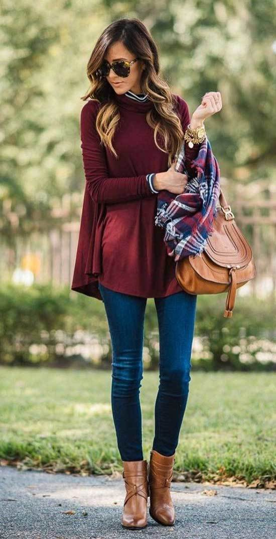 Fall Outfits with Scarves