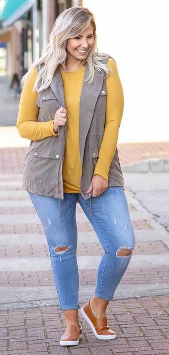 Plus Size Fall Outfits for Women Over 50