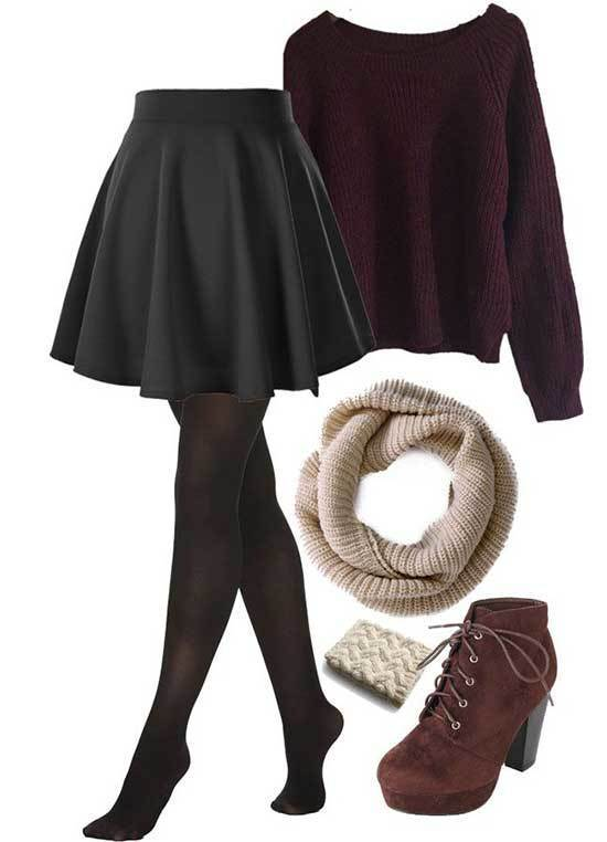Night Out Outfit Ideas with Tights