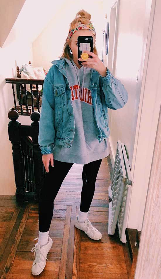 Cute Casual Tshirt Outfits for Winter