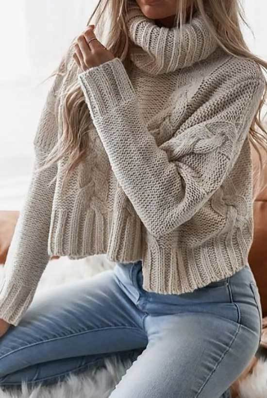 Cute Casual Jeans Outfits for Winter