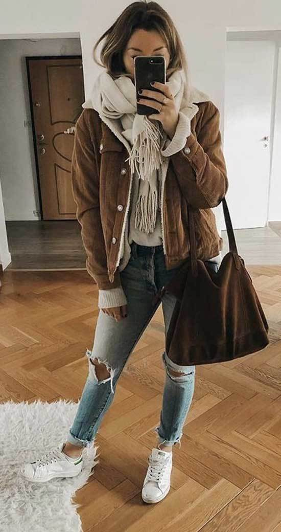 Cute Casual Scarf Outfits for Winter