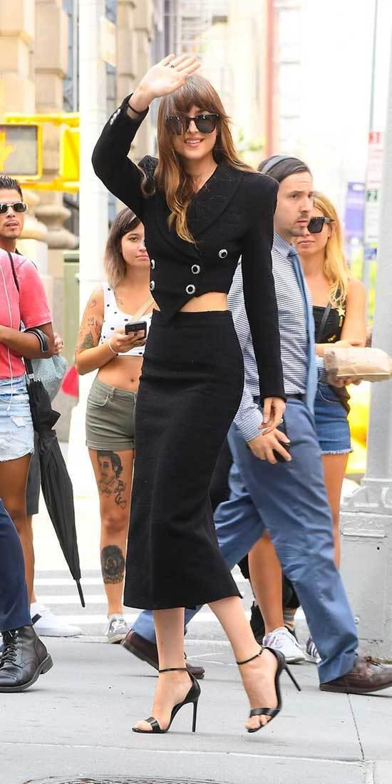 Dakota Johnson Black Outfits