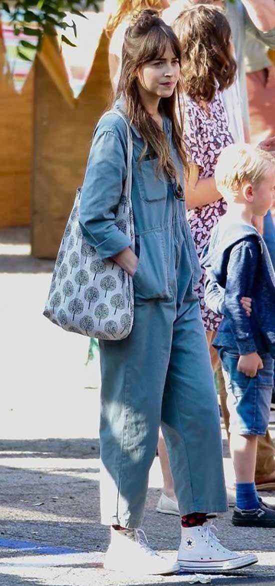 Dakota Johnson Denim Outfits