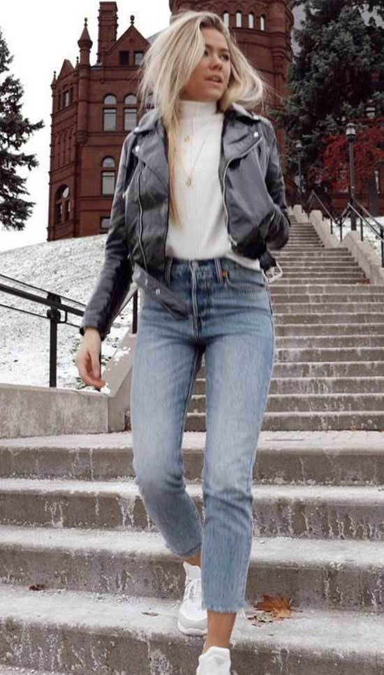 Mom Jean Outfits Fall