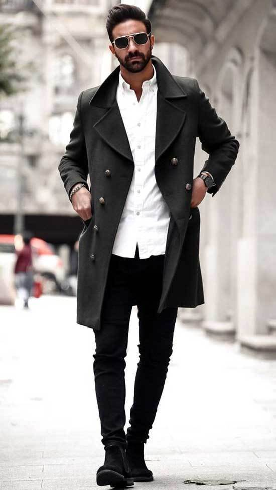 Winter Coat office Outfits Men-6