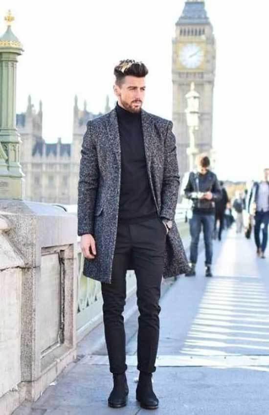 Winter office Elegant Outfits Men-7