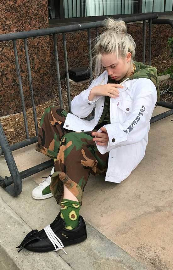 Billie Eilish Camo Outfits
