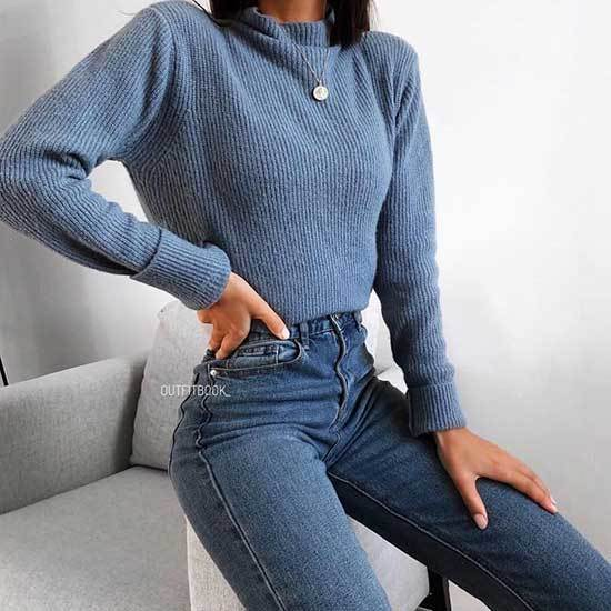 Winter College Outfits with Jeans