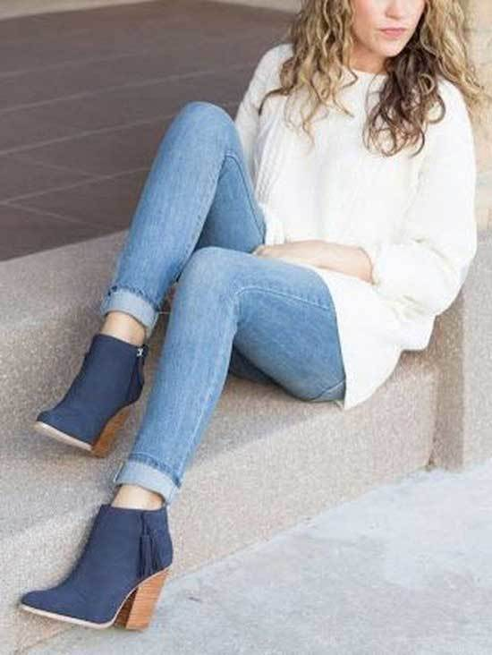 Winter Outfits with Blue Jeans