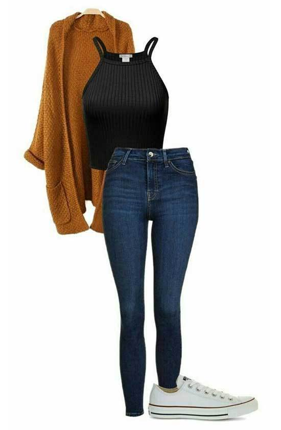 Winter Cardigan Outfits with Jeans