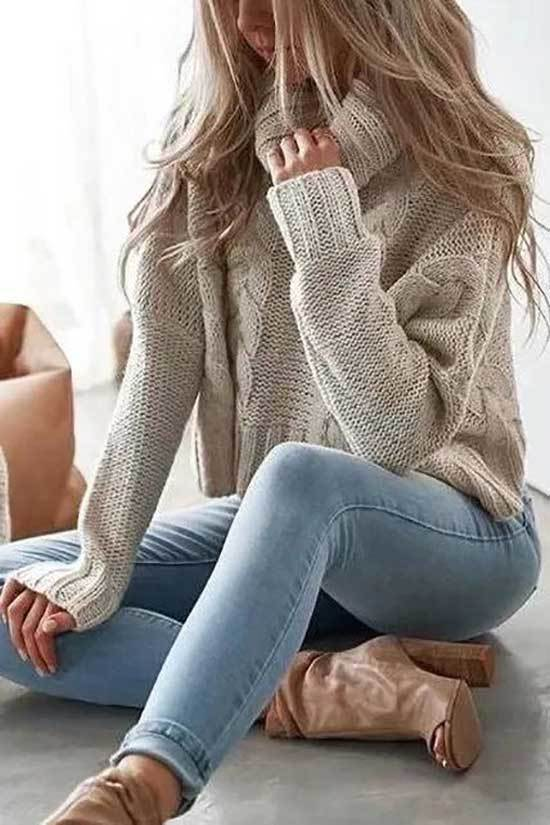 Cozy Winter Outfits with Jeans