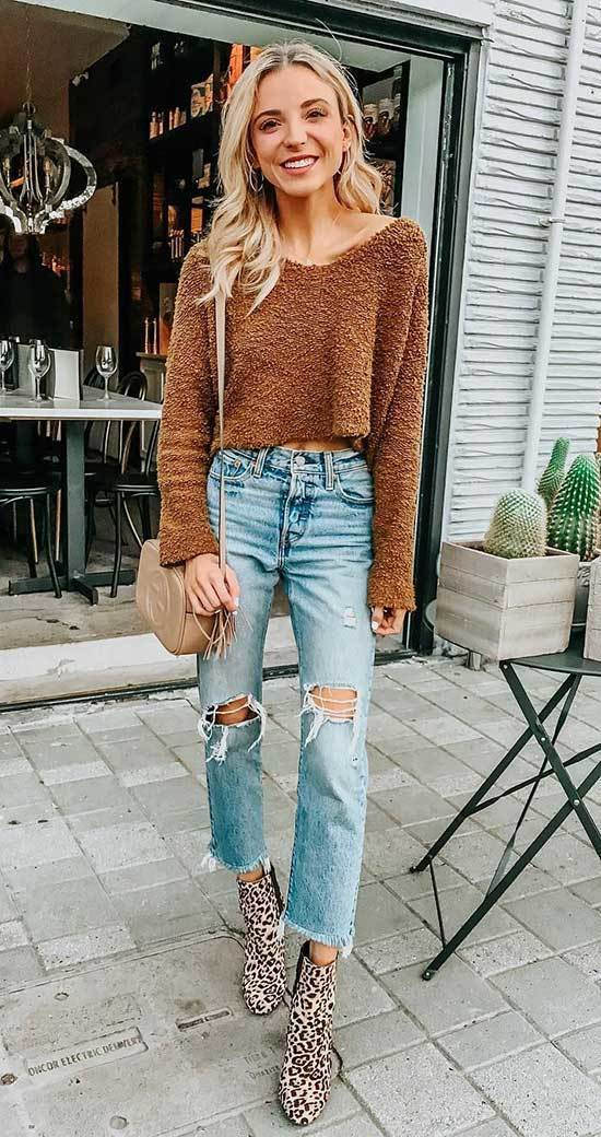 Street Style Winter Outfits with Jeans