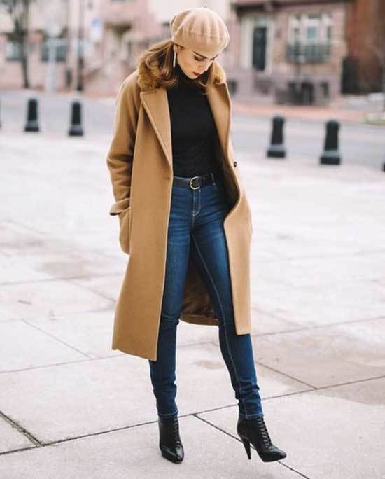 Camel Trench Coat Outfit Womens-12
