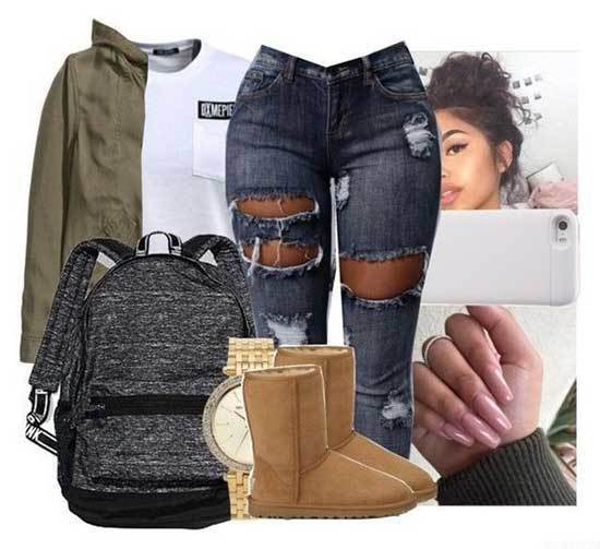 Ugg Boots Outfit Ideas-24