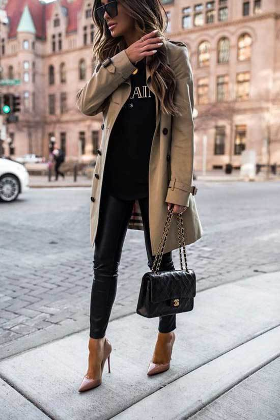 Trench Coat Outfit Womens-27