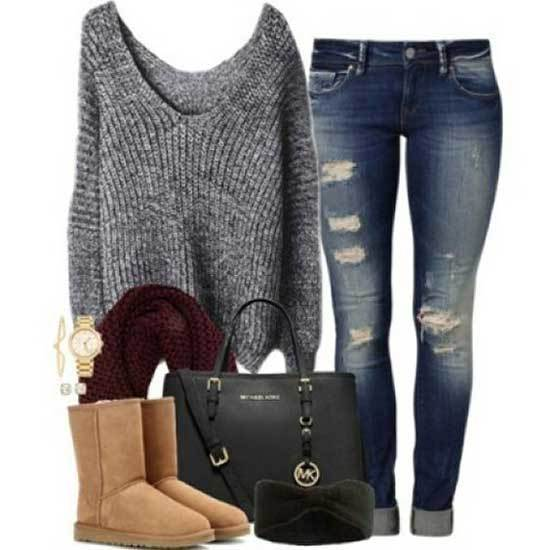 Ugg Boots Outfit Ideas-30