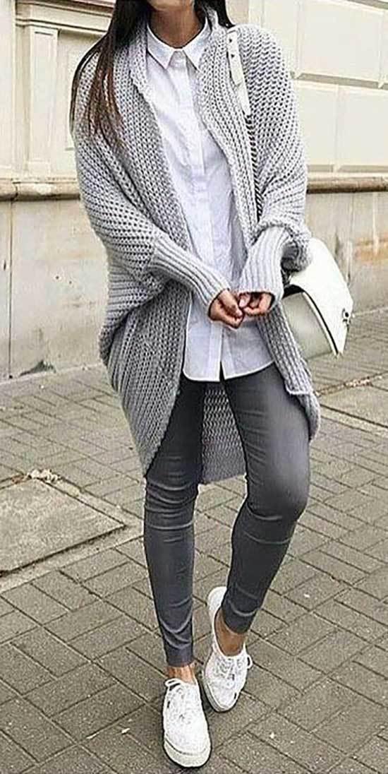 Gray Leggings Winter Teacher Outfits-6