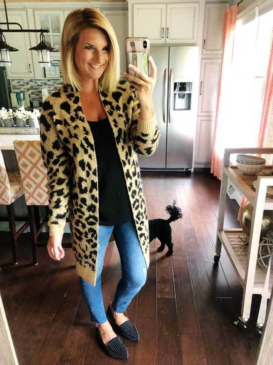 Leopard Print Winter Teacher Outfits-7