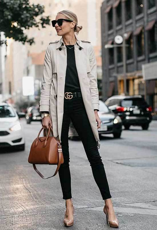 Classy Trench Coat Outfit Womens-8