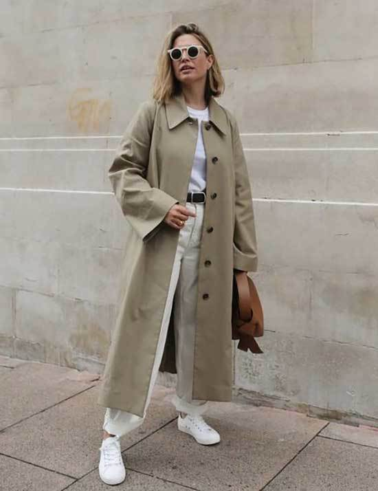 Autumn Trench Coat Outfit Womens-9