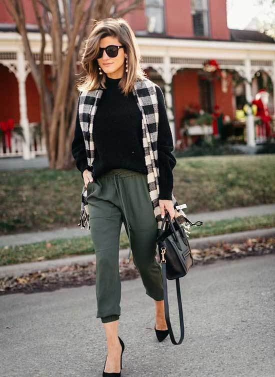 Winter Teacher Olive Trousers Outfits-9