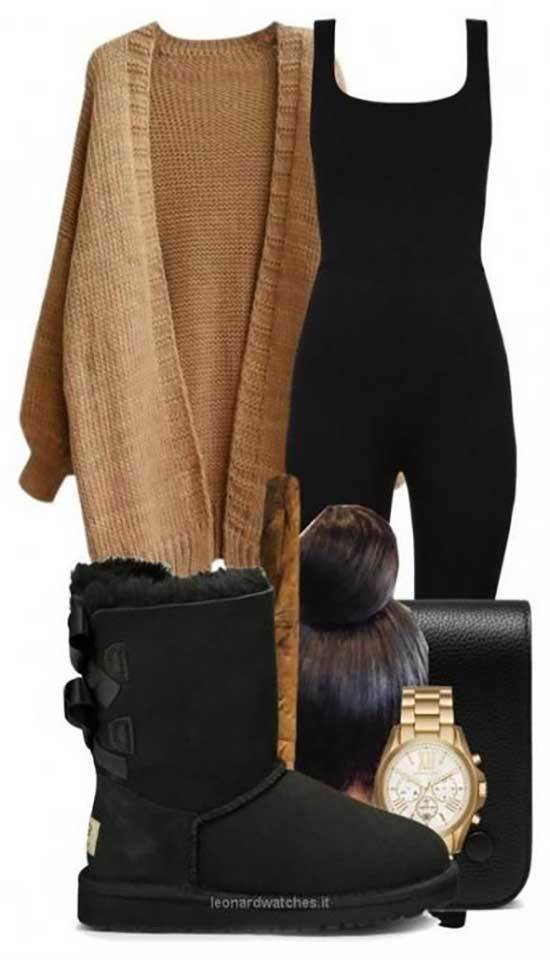 Black Uggs Outfit Ideas