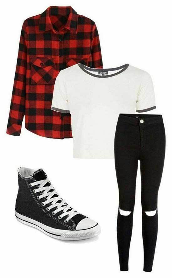Simple Converse Outfits for School-10