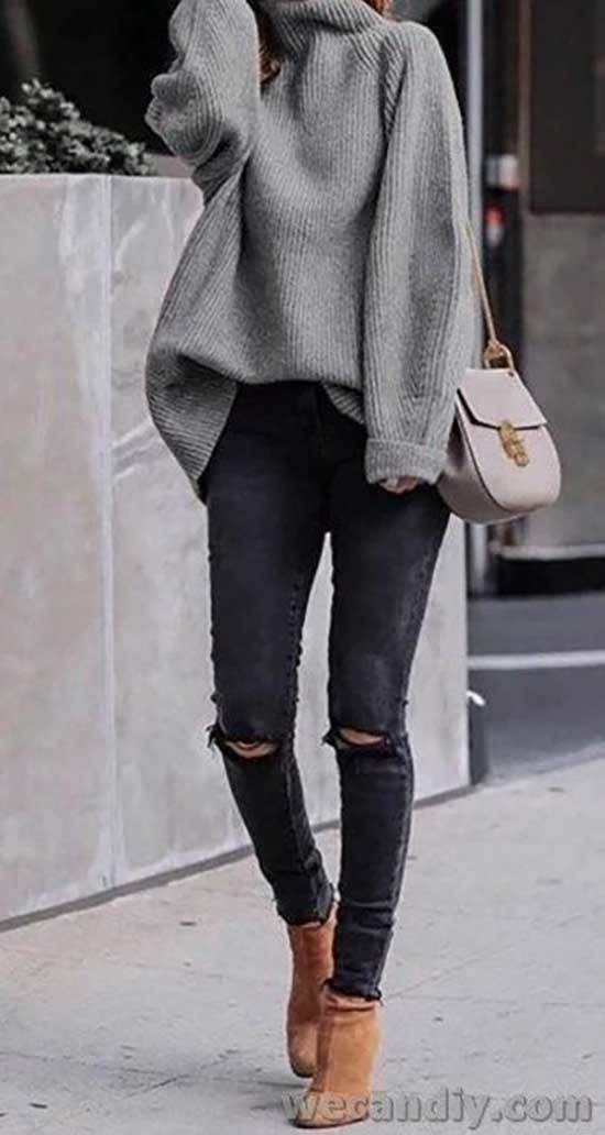 Best Casual Ripped Jeans Outfits for Ladies-11
