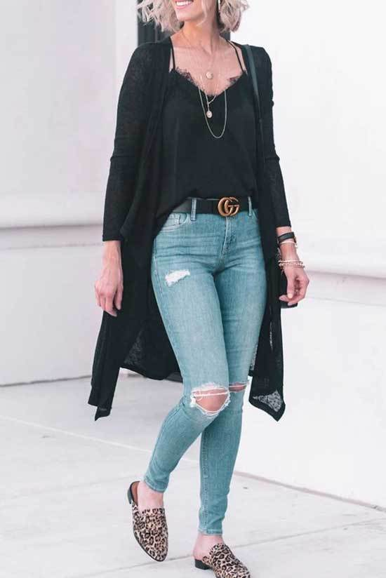 Best Casual Long Cardigan Outfits for Ladies-16