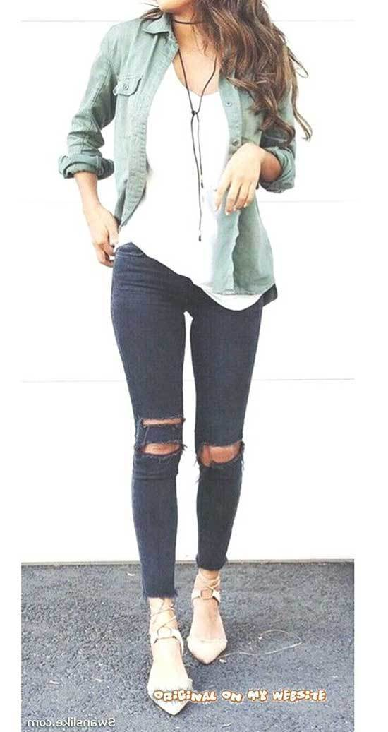 Simple Cool Outfits for School-17