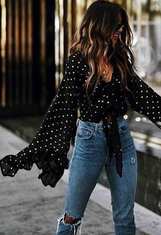Polka Dot Top Spring Outfit Ideas for 2020-7