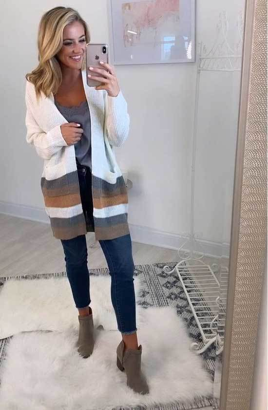 Best Casual Cardigan Outfits for Ladies-8