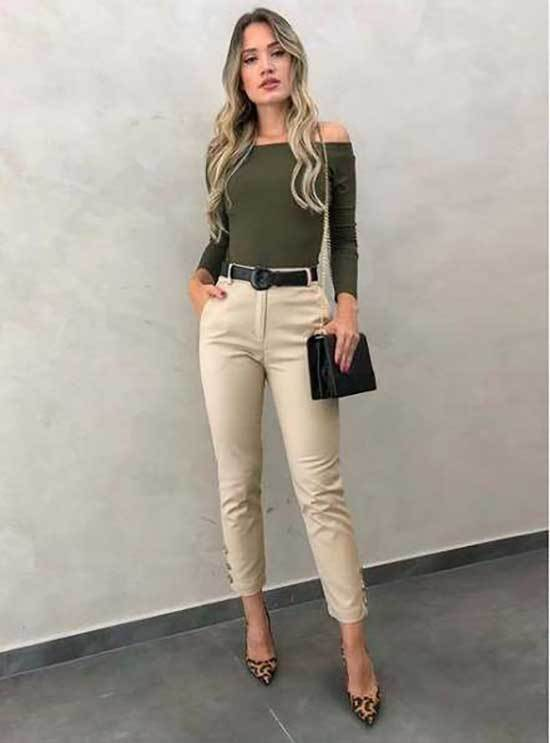 Best Casual Beige Pants Outfits for Ladies-9