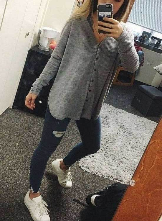 Cute Casual Spring Outfits-10