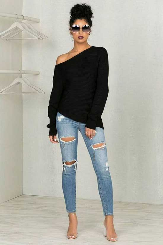 Simple Blue Jeans Outfits-10